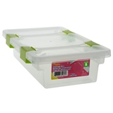 1.2L Storage box with clips on lid - 0