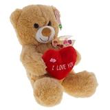 Plush Valentine Bear Holding Plush Heart - 0