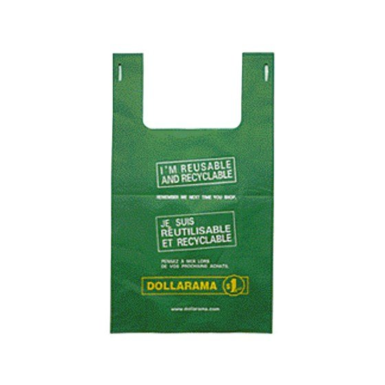 Large Bilingual Dollarama Eco Bag