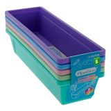 5PK Plastic Interlocking Pencil Trays - 1