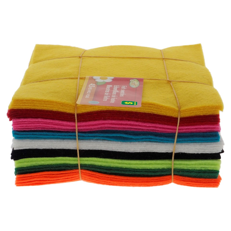 45PK Colourful Felt Swatches