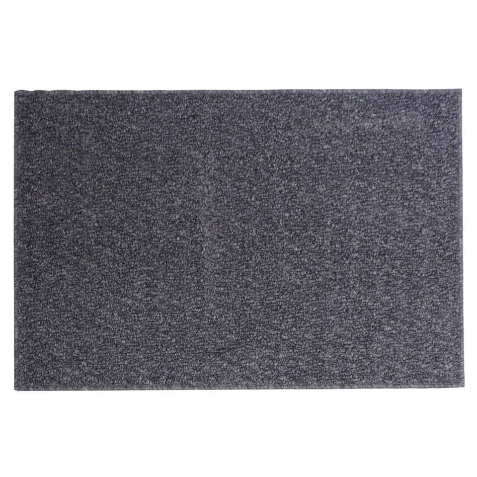 Tapis rectangulaire rayé en fibre synthétique (Couleurs assorties)