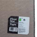 Tapis rectangulaire rayé en fibre synthétique (Couleurs assorties) - 2