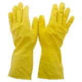 1 Pair Natural Rubber Dish Gloves, Small - 2