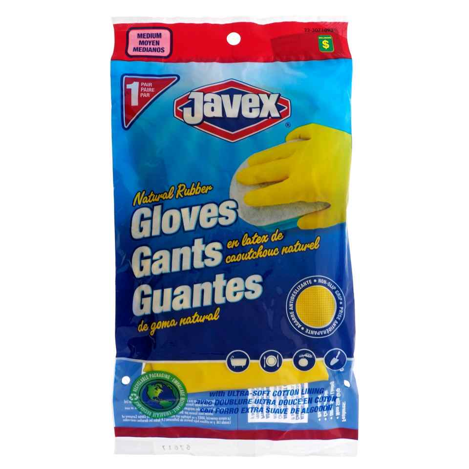 1 Paire de gants en latex multi-usage, Moyen