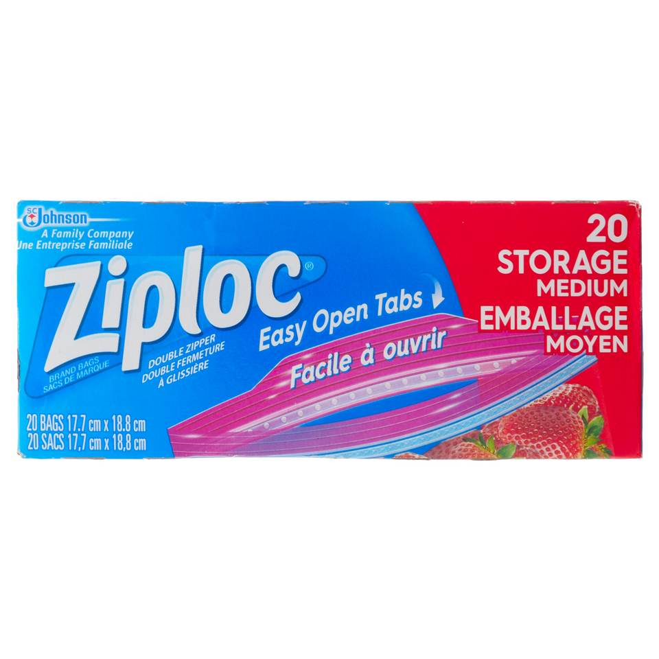 20 Ziploc Medium Storage Bags