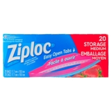 20 Ziploc Medium Storage Bags - 0