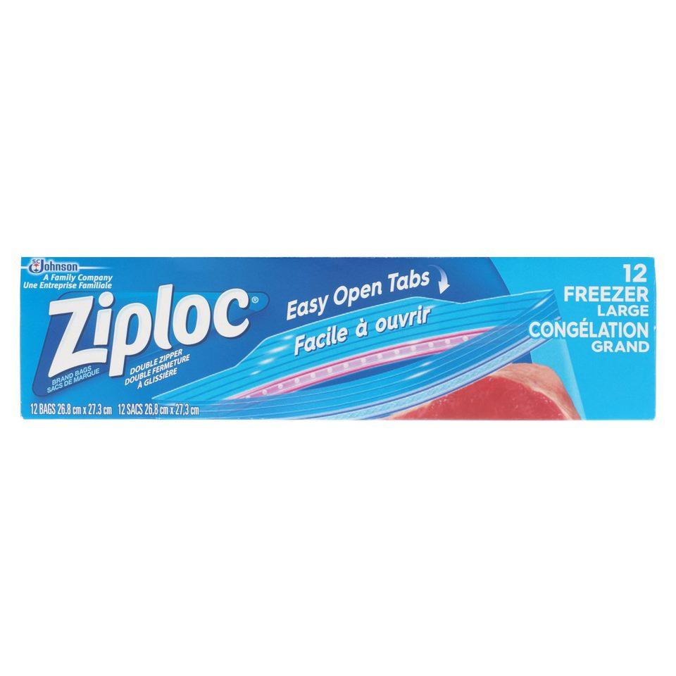 12 Grands sacs de congélation Ziploc