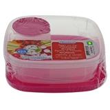 Plastic Veggie & Dip Container With Lid - 0