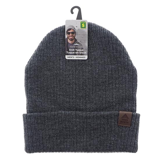 Tuque en tricot avec manchette pour hommes