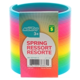 Rainbow Coloured Plastic Spring - 0