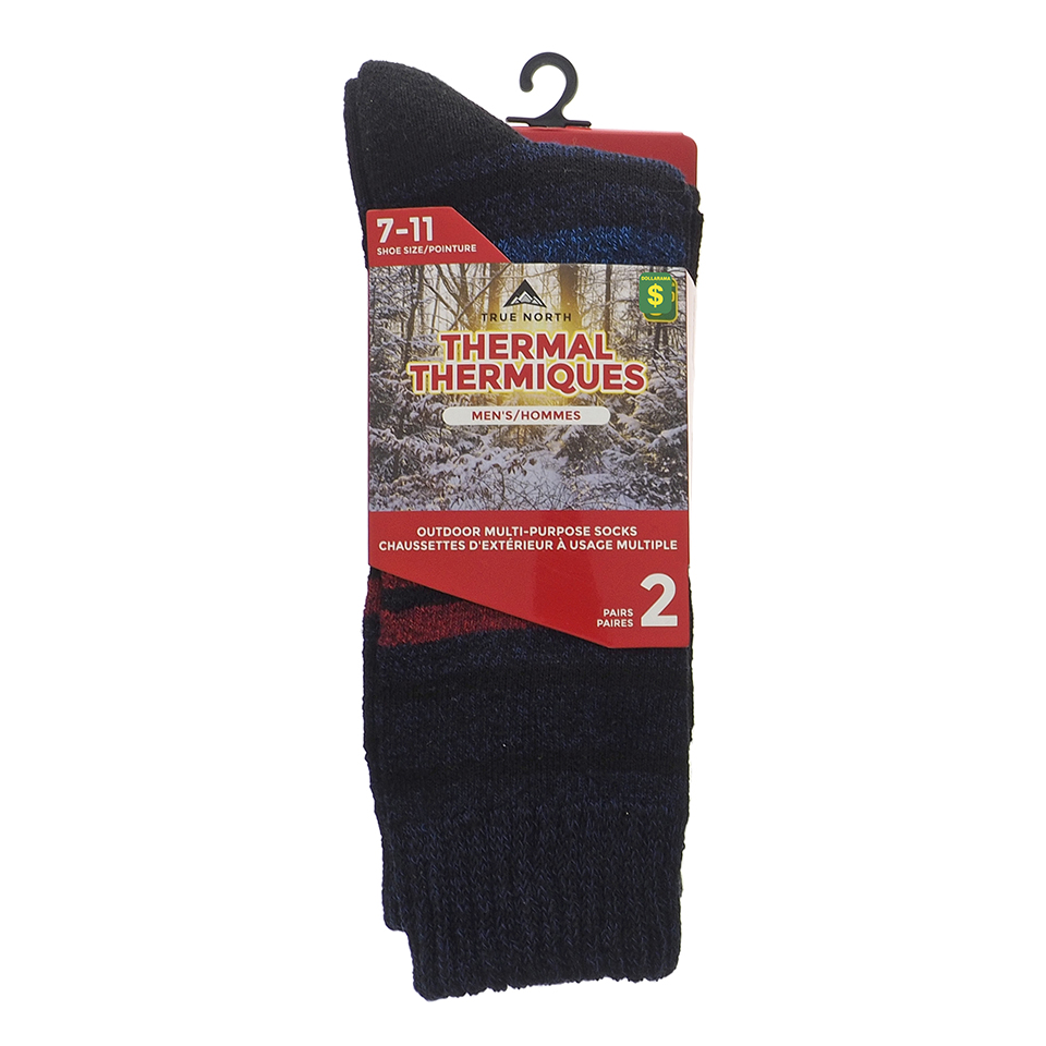 2PK of Thermal Outdoor Socks for Men