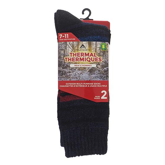 2 Pk Men's Thermal Outdoor socks