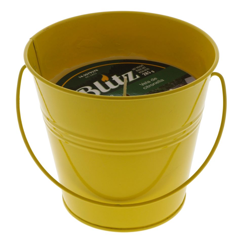 Citronella Candle In Tin Bucket With Handle