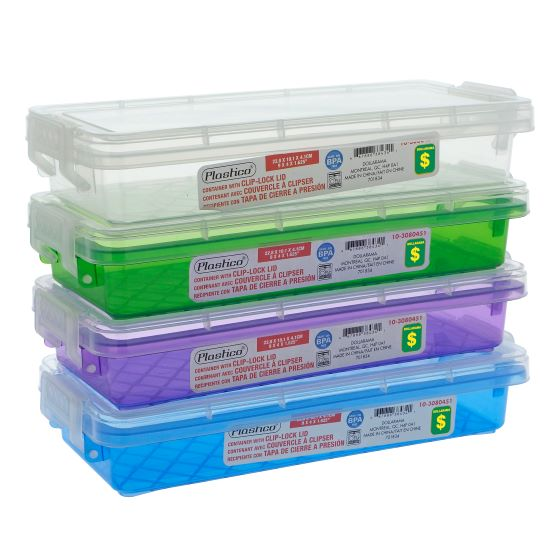Rectangular Container with Clip-Lock Lid