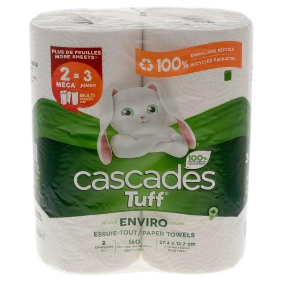Paquet de 2 papier essuie-tout Cascades TUFF