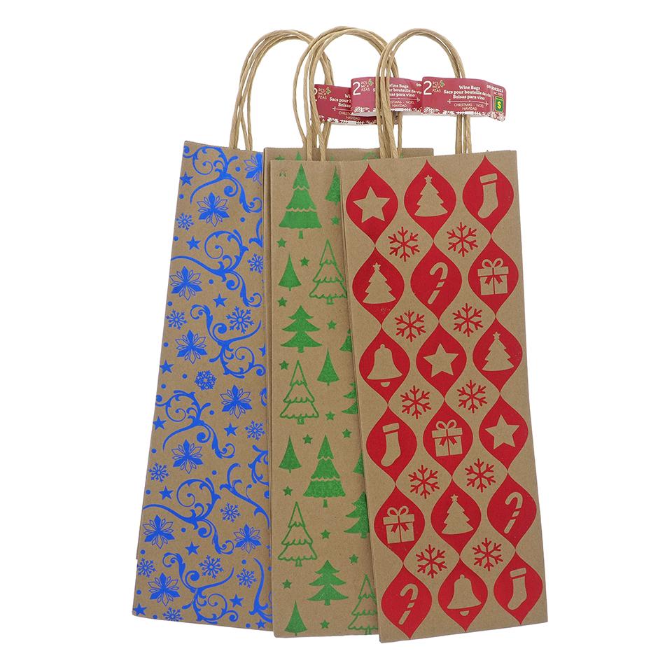 Paquet de 2 sacs pour bouteille de vin