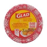 Paquet de 30 assiettes des fêtes de Glad - 0