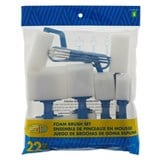 22PK Assorted foam brush set - 0