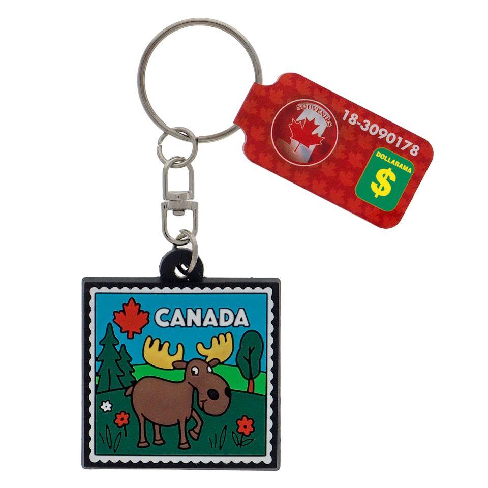 """Porte-clés """"Canada"""" en caoutchouc"""