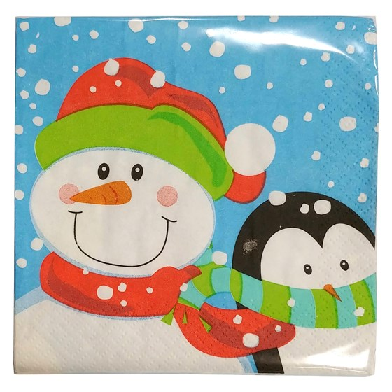 "20Ct ""Winter Buddies"" Bev. Napkins"