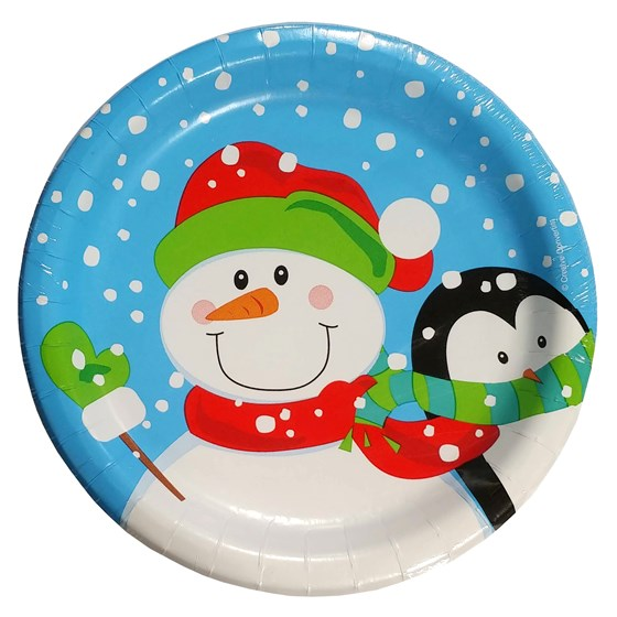 "-10Ct ""Winter Buddies""6.875"" Plates"