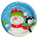 "-10Ct ""Winter Buddies""6.875"" Plates - 0"