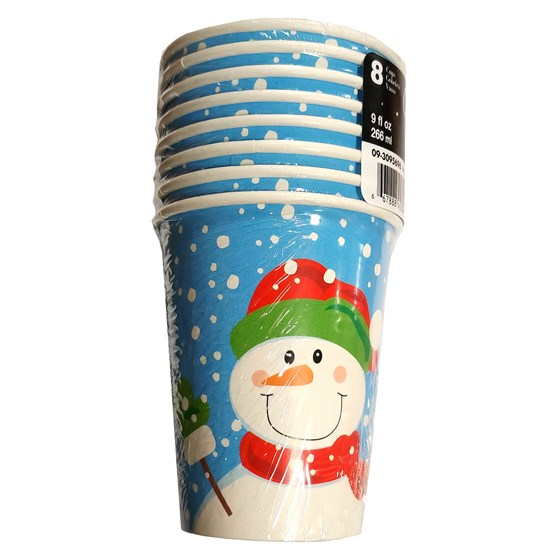 "8Ct ""Winter Buddies"" 9Oz Cups"