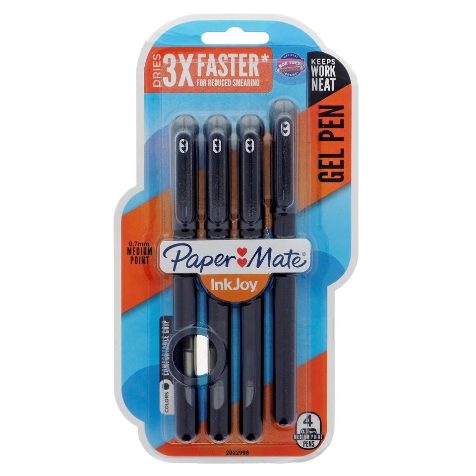 4PK  Paper Mate Capped Gel Pens