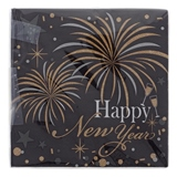 "16Ct Printed ""Happy New Year"" Luncheon Napkins - 0"