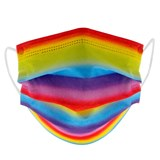 Disposable Kids Rainbow Protective Masks - 0