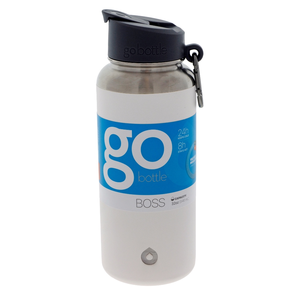 White double wall vacuum insulated bottle - 32 oz