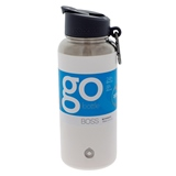 White double wall vacuum insulated bottle - 32 oz - 0