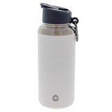 White double wall vacuum insulated bottle - 32 oz - 1