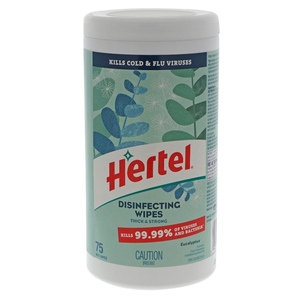 Hertel 75ct Disinfecting Wipes - Eucalyptus