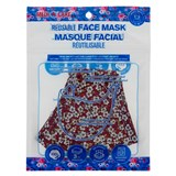 Masque de protection en coton couleurs assorties - Adulte - 1