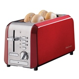 Betty Crocker Stainless Steel 4 Slice Toaster - 0