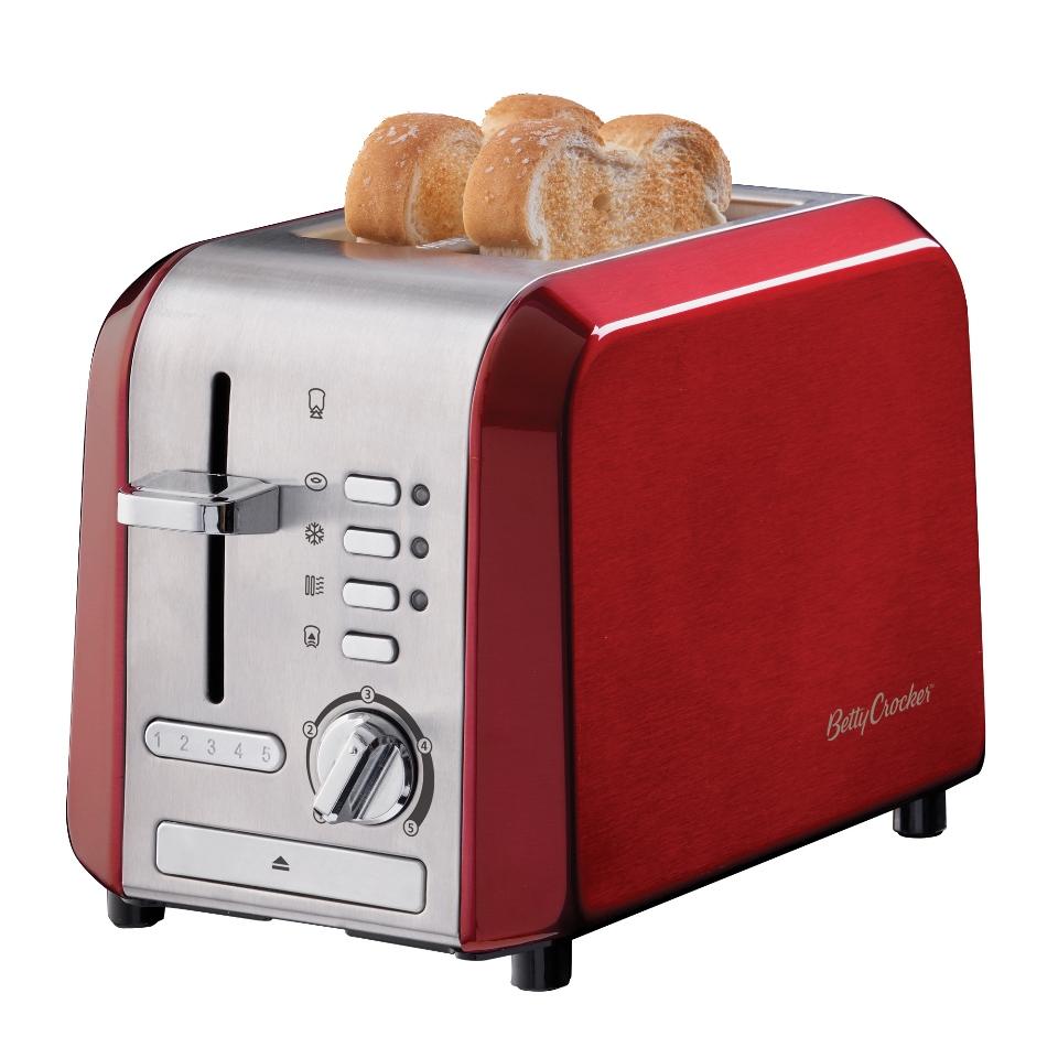 Betty Crocker Stainless Steel 2 Slice Toaster