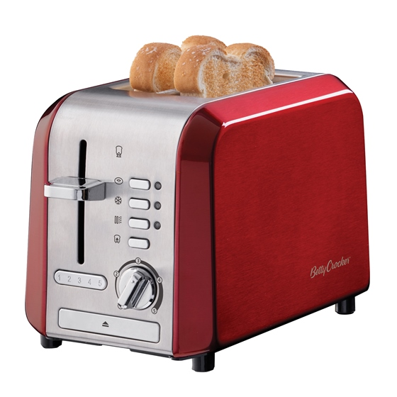 Betty Crocker Stainless Steel 2 Slice Toaster