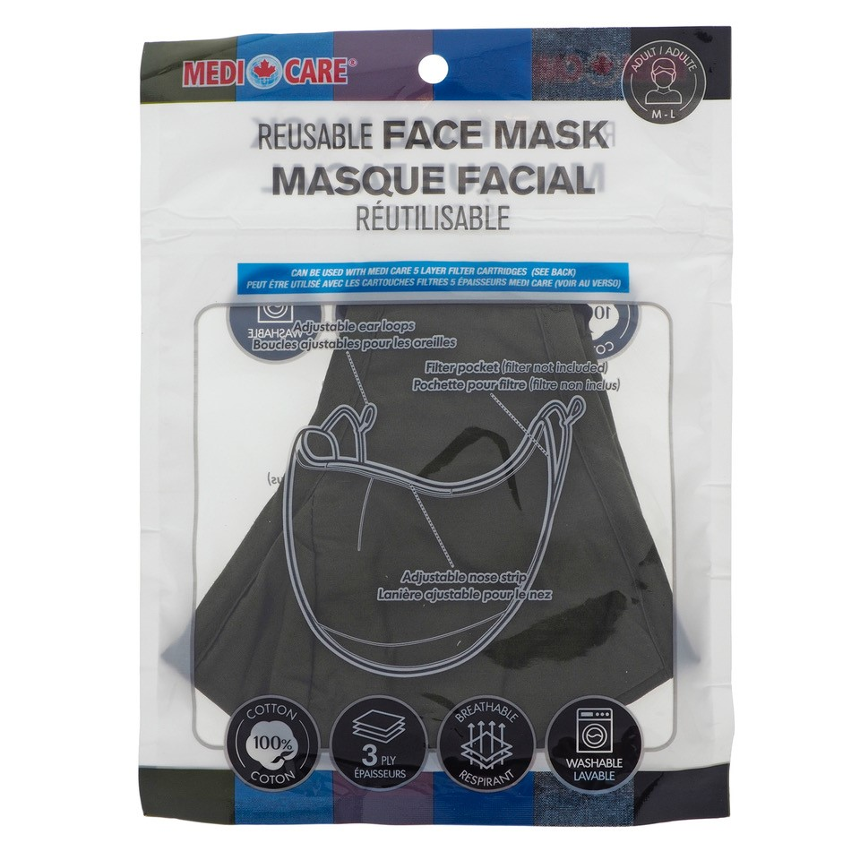 Cotton Protective Face Mask - Adult