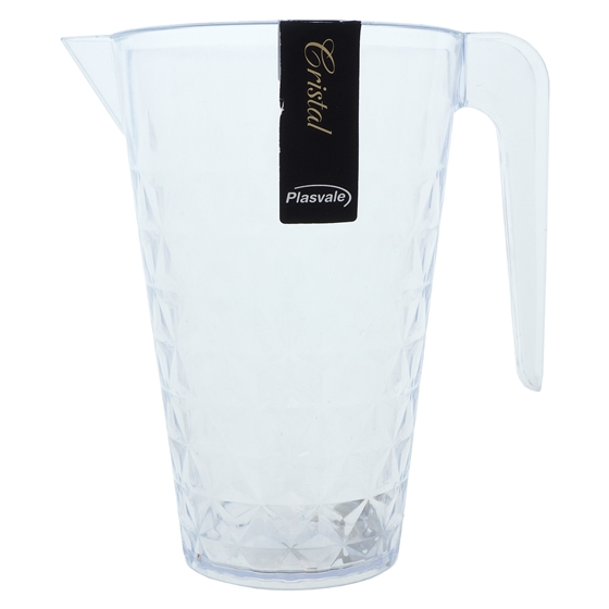 Diamond Cut Clear Plastic Pitcher