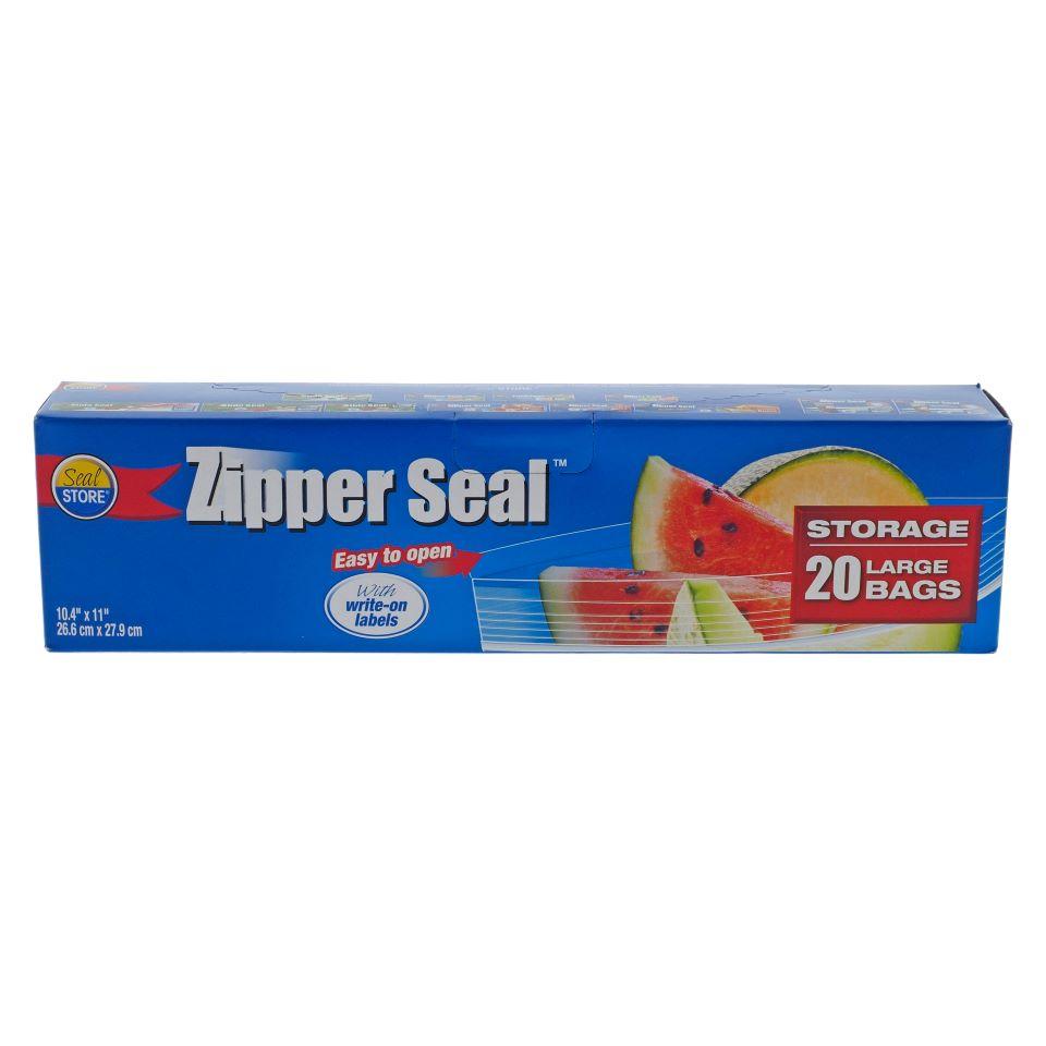 Paq. de 20 sacs d'emballage pour aliments à fermeture