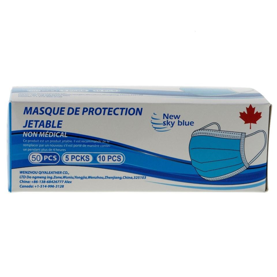 Paquet de 50 masques jetables non-chirurgicaux